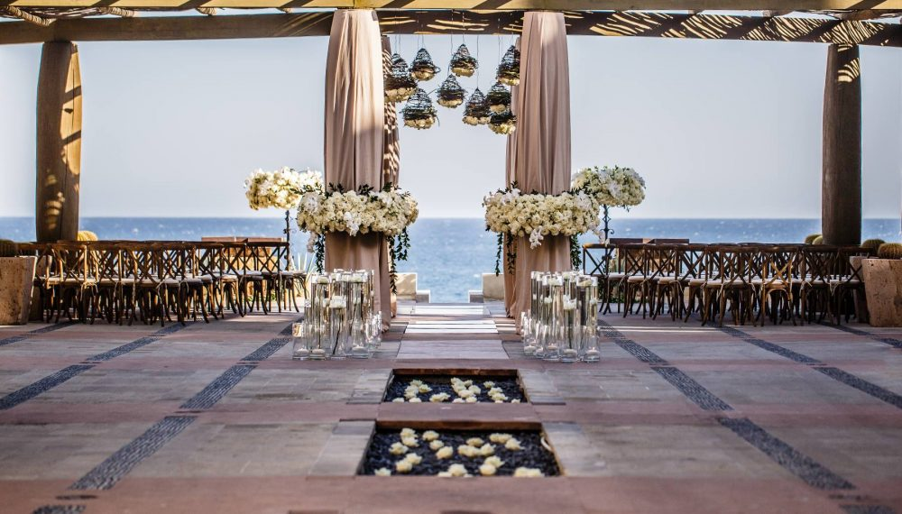 Gorgeous Wedding Ceremony in The Lobby at The Resort at Pedregal