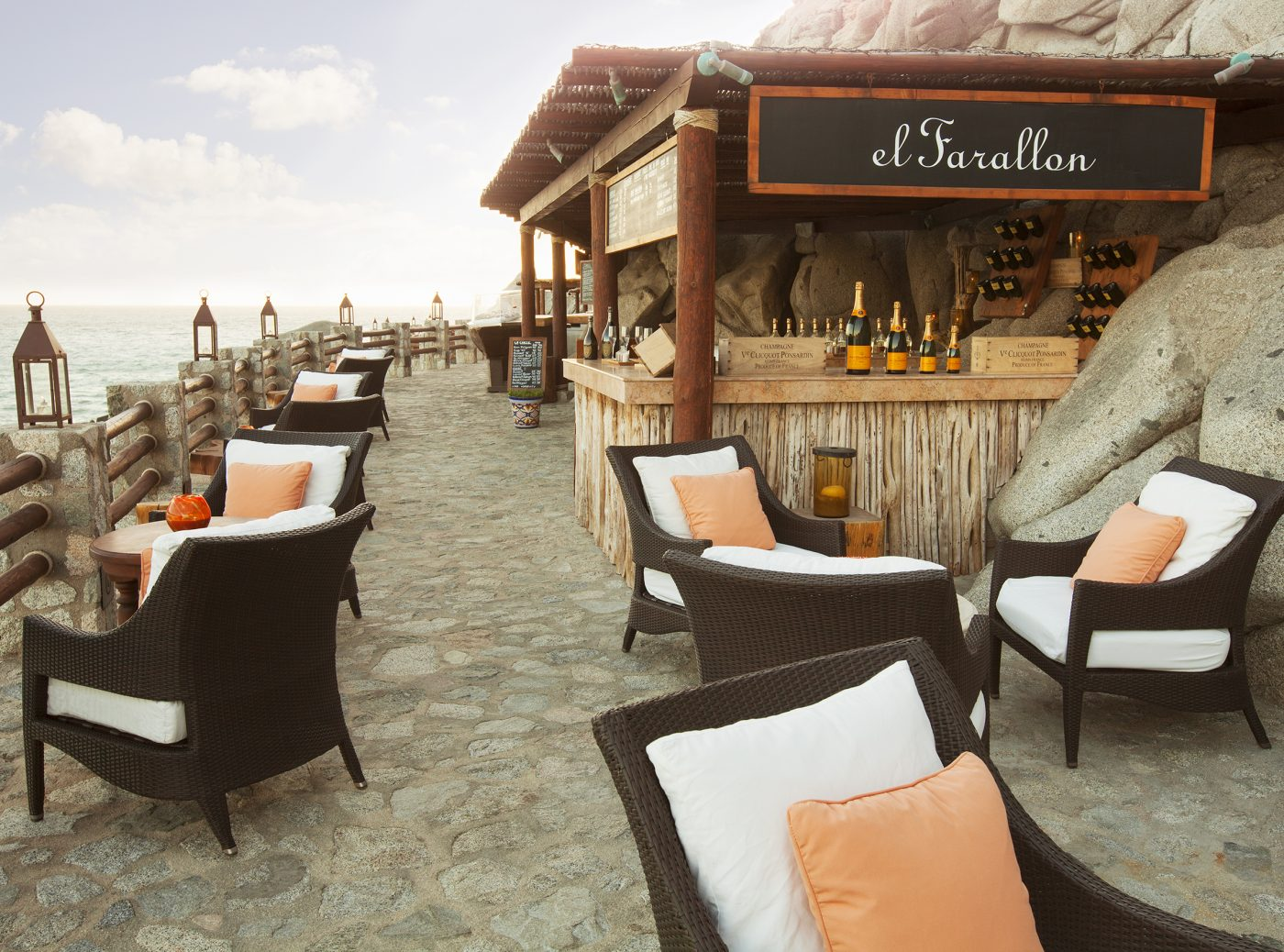 Champagne Terrace at El Farallon at The Resort at Pedregal
