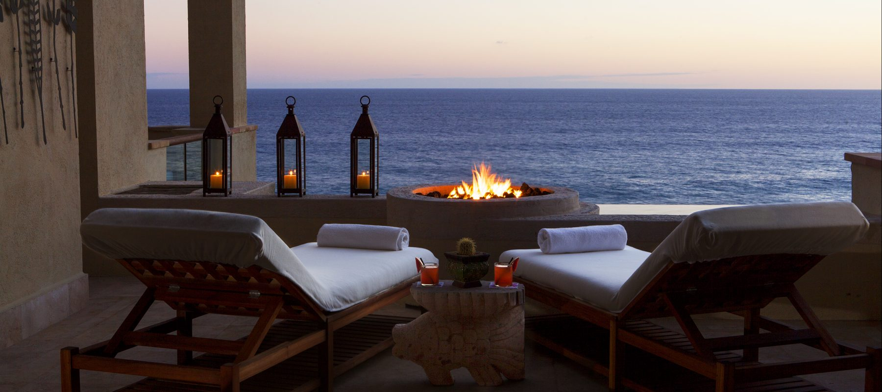 A relaxing retreat in Cabo San Lucas: The private beach and firepit at The Resort at Pedregal