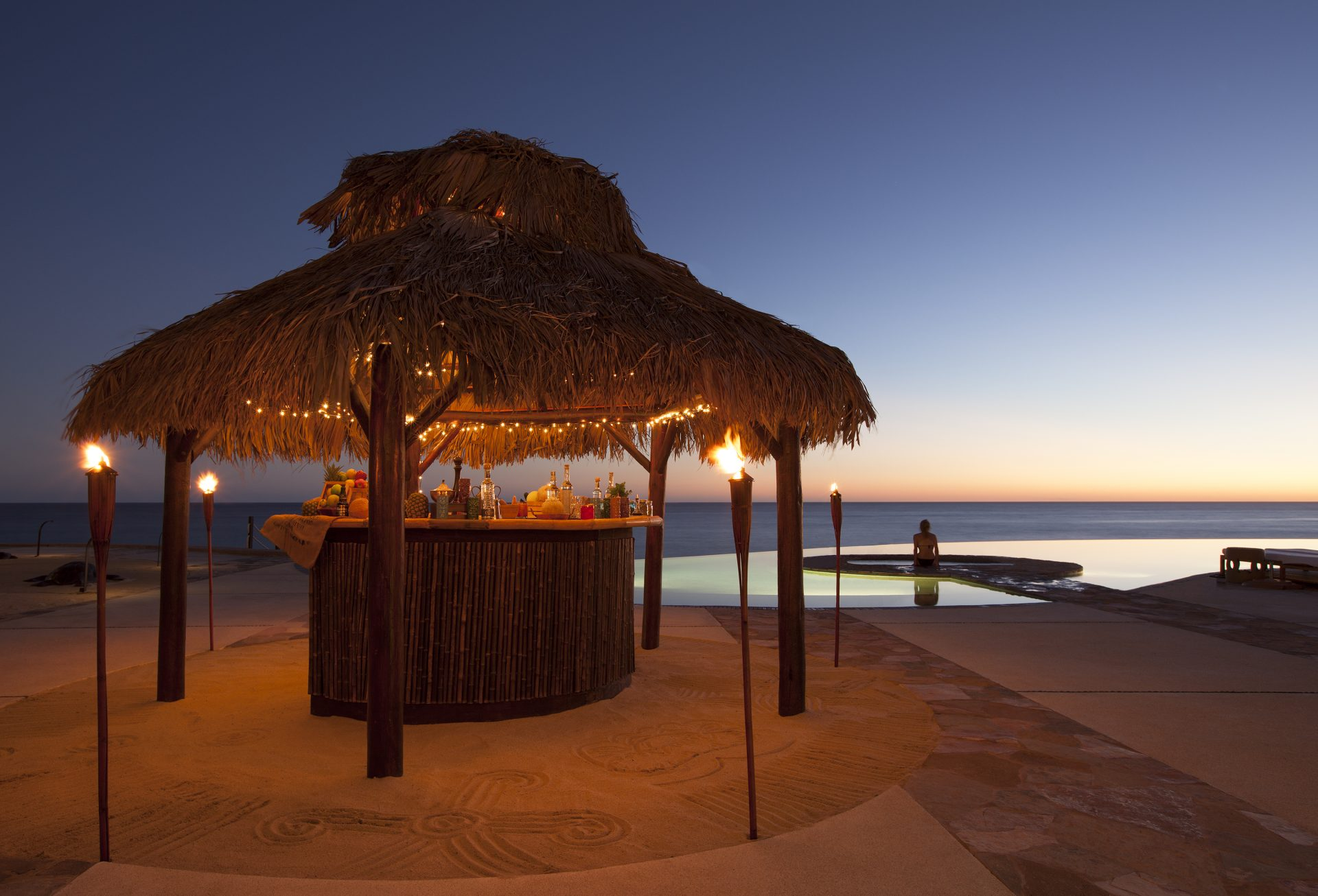 Awesome tiki hut at The Resort at Pedregal