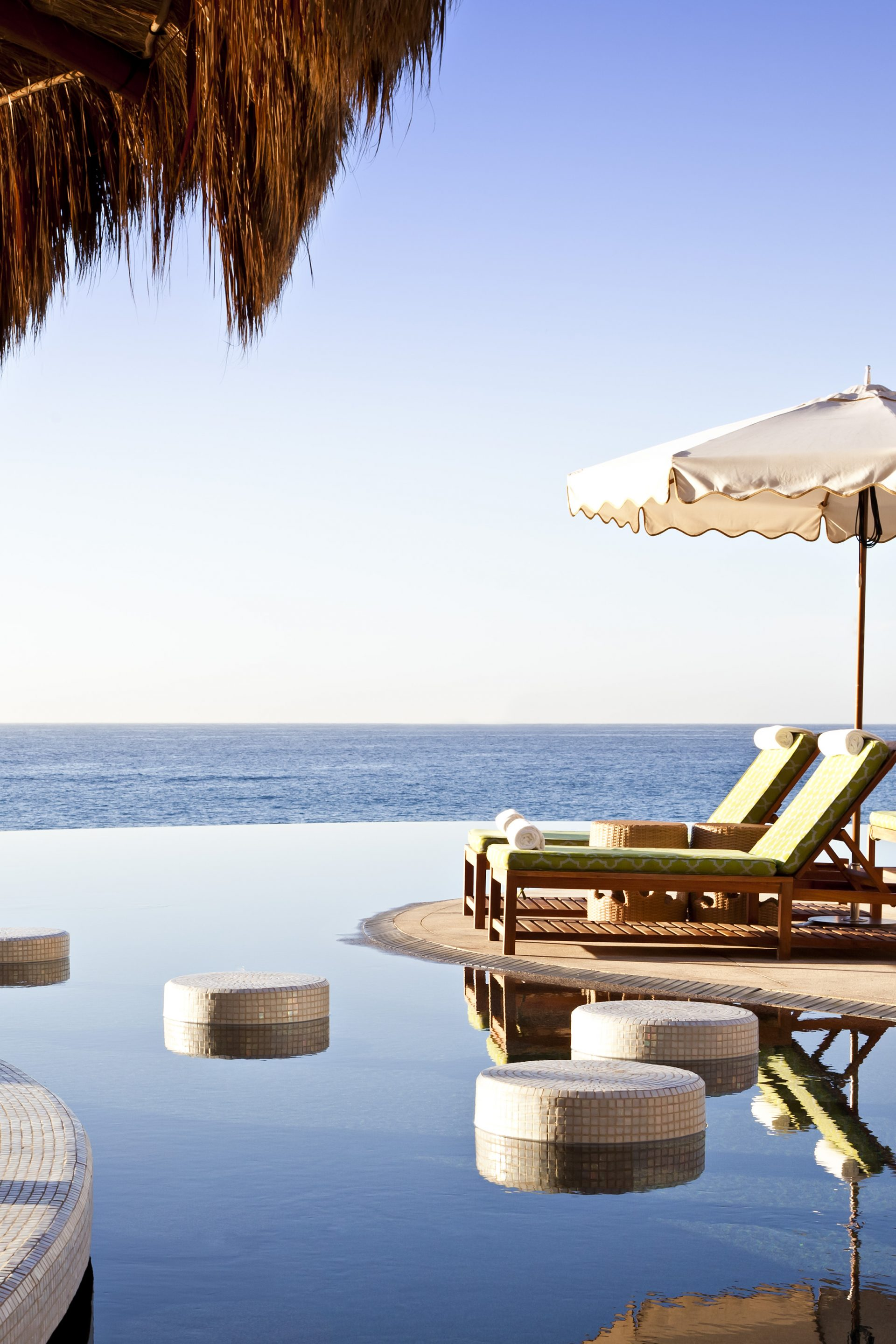 Beautiful infinity pool view at The Resort at Pedregal