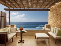 Deluxe Ocean View terrace and plunge pool at The Resort at Pdregal