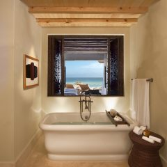 Charming, luxuriously designed, and amenity-rich en-suite bathrooms at The Resort at Pedregal