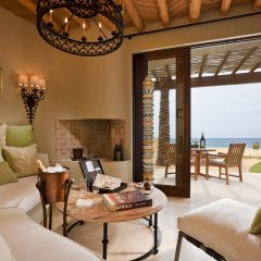 The expansive multi-room Beachfront Casita Suite, featuring private beach access at The Resort at Pedregal
