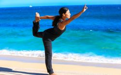 Yoga classes on the beach in Cabo San Lucas