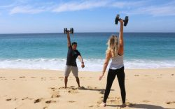 Crossfit on the beach at The Resort at Pedregal