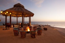 Palapa Fire Pit Event Set up at The Resort at Pdregal