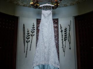 A beautiful wedding dress at The Resort at Pedregal