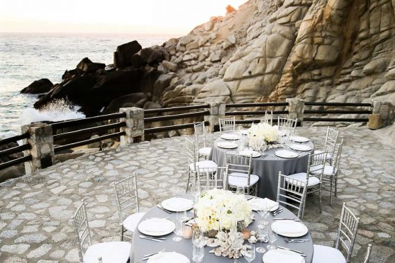 A wedding reception overlooking the ocean at The Resort at Pedregal